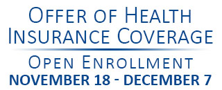 Offer of Health Insurance Coverage - Open Enrollment