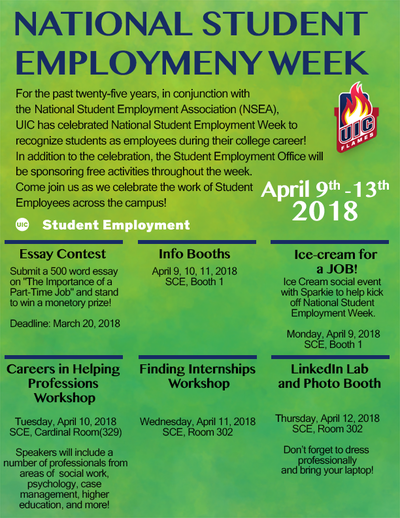 Ifit career exploration info session uic national student employment week april 9 13 malvernweather Gallery