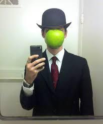 Magritte Halloween selfie