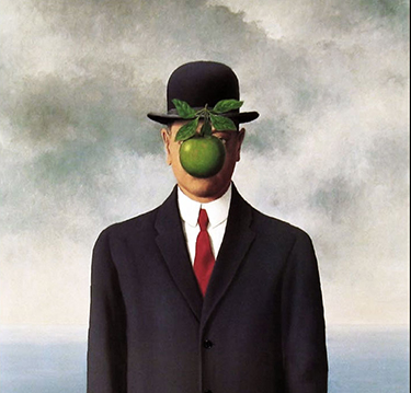 Magritte, Son of Man self-portrait