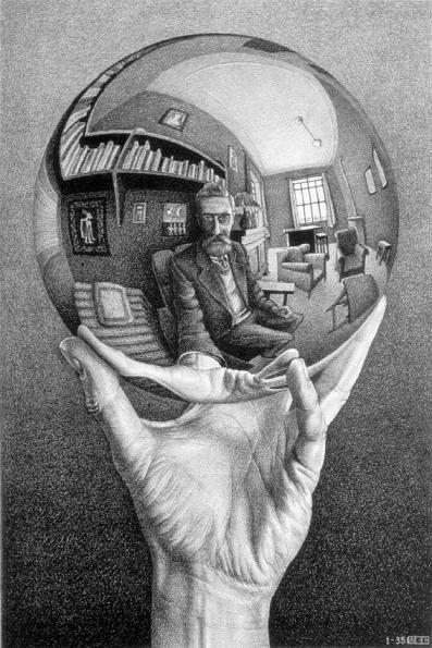 M. C. Escher selfie