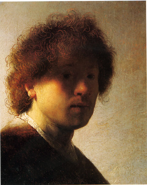 Rembrandt, early selfie