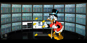 Will Scrooge McDuck swap his coins for bitcoins?
