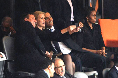 The Obama selfie was not irreverent, and it was not the Obama selfie