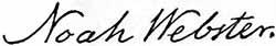 Noah Webster signature