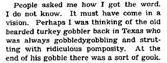 Gobbledygook is the sound of a self-important turkey