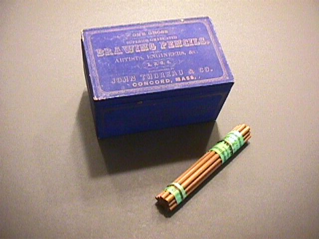 Box of Thoreau pencils and a set of pencils
