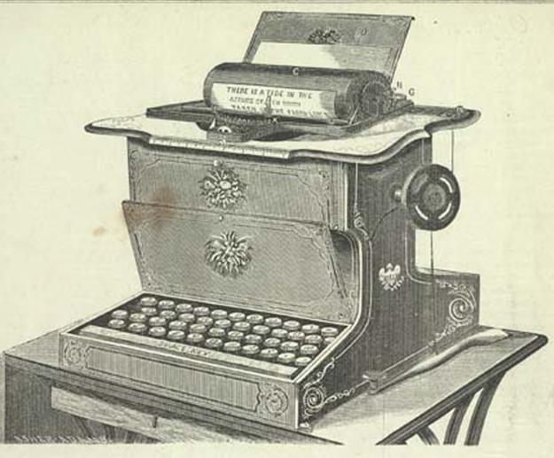 1875 ad for Remington typewriter