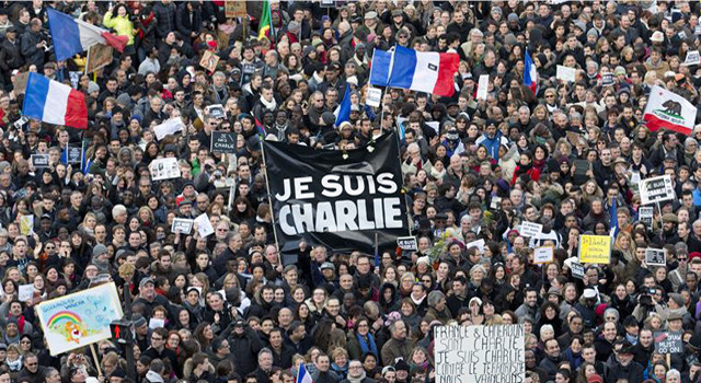 Over 1 million people gathered at the Place de la République in Paris to support free speech and protest the Charlie Hebdo killings.