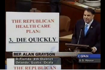 Alan Grayson shows Republican