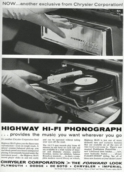 Chrysler's in-dash phonograph -- a 1950s dead end