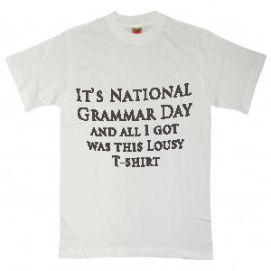 T-shirt reading,