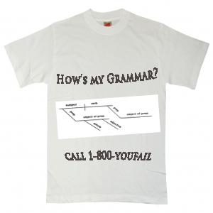 T-shirt reads,