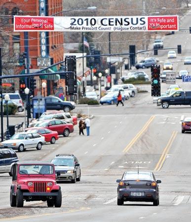Census banner in Prescott, AZ