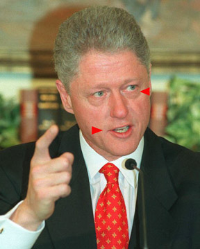 Bill Clinton lying to reporters about Monica Lewinsky