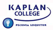 Kaplan College seal and motto,