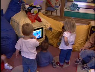 RUBI the Robot in a preschool classroom