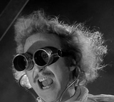 Gene Wilder plays Dr. Fronkensteen in