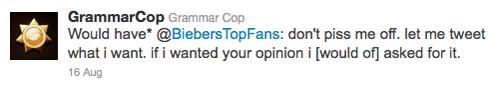 GrammarCop corrects