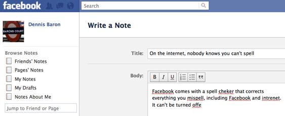 facebook spell corrector
