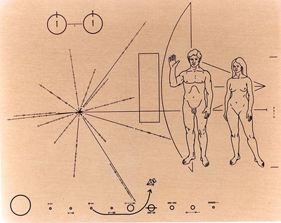 The NASA Plaque on Pioneer 10, 1972