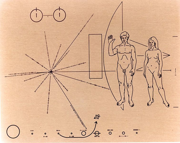 The NASA Plaque on Pioneer 10, 1972