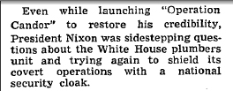 Washington Post reporting on Nixon plumbers