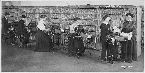 Multigraph machine in offices, 1905