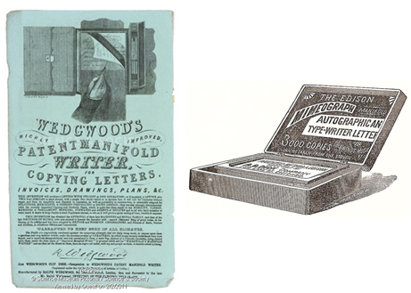 Ads for Manifold Copier and Mimeograph