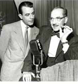 Groucho Marx and George Fenniman in the classic TV quiz show, 'You Bet Your Life.' What will happen to quiz shows when the computer makes human memory obsolete?