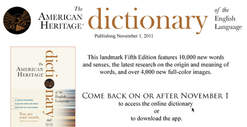 Blurb for the American Heritage Dictionary