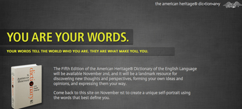 You are your words, says the AHD