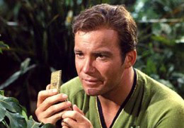 Capt. Kirk and his Star Trek communicator