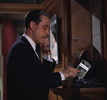 In this remake of the Hitchcock classic, Tony Wendice texts 'M' for Maida Vale, his telephone exchange, and for murder