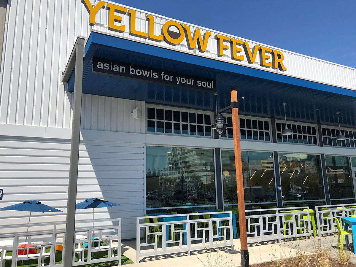 Yellow Fever pan-Asian restaurant at a California Whole Foods