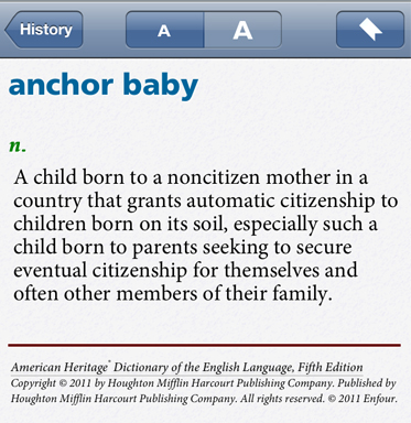 anchor baby original definition