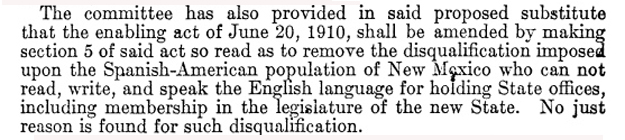 US House report calls for dropping New Mexico's English requirement