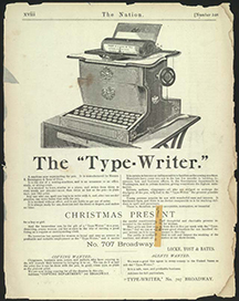 Remington ad, the Nation, Dec. 16, 1875
