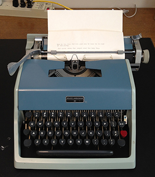 Olivetti Lettera 22, portable typewriter introduced in 1949