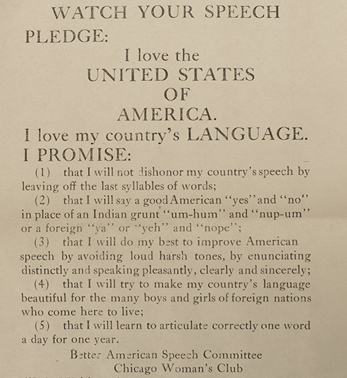 Better American Speech Pledge for Children