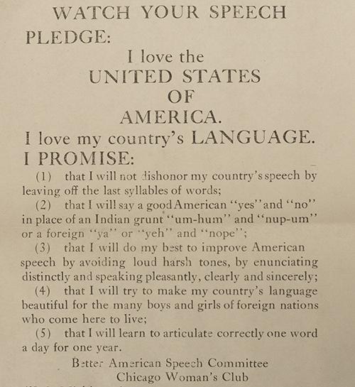 Better American Speech Pledge for Children