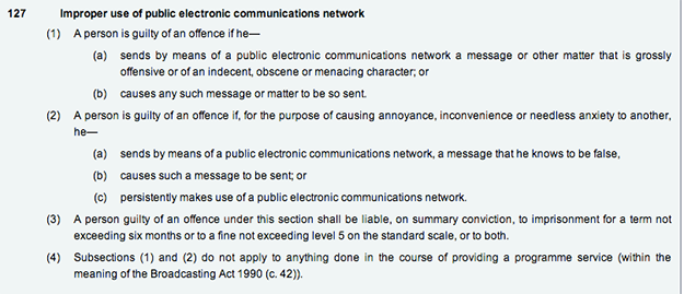 Section 127 of the Communications Act