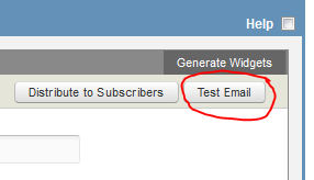 test email button