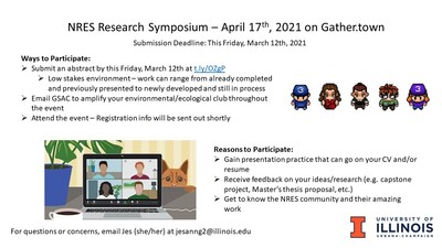 Information about the NRES Research Symposium