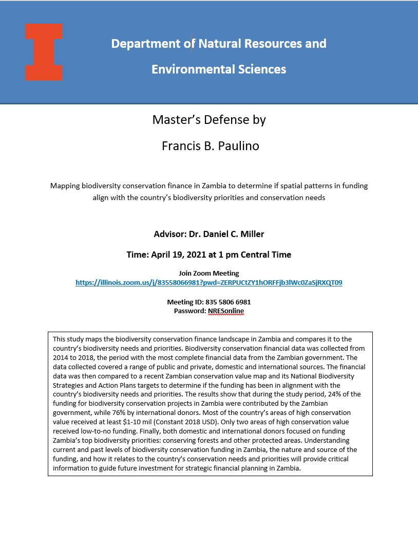 Francis Paulino presentation poster
