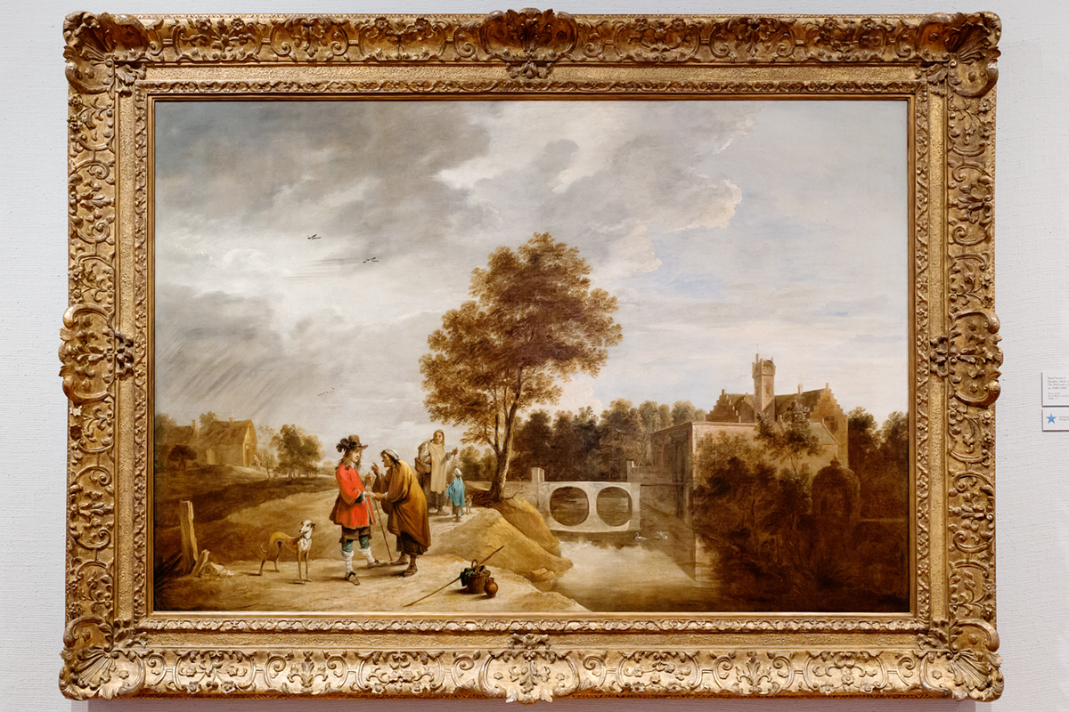 David Teniers II	 Flanders, 1610–1690 The Artist with a Fortune Teller in a Landscape  ca. 1640–1650 Oil on canvas	 Gift of Merle J. and Emily N. Trees	 1948-1-2