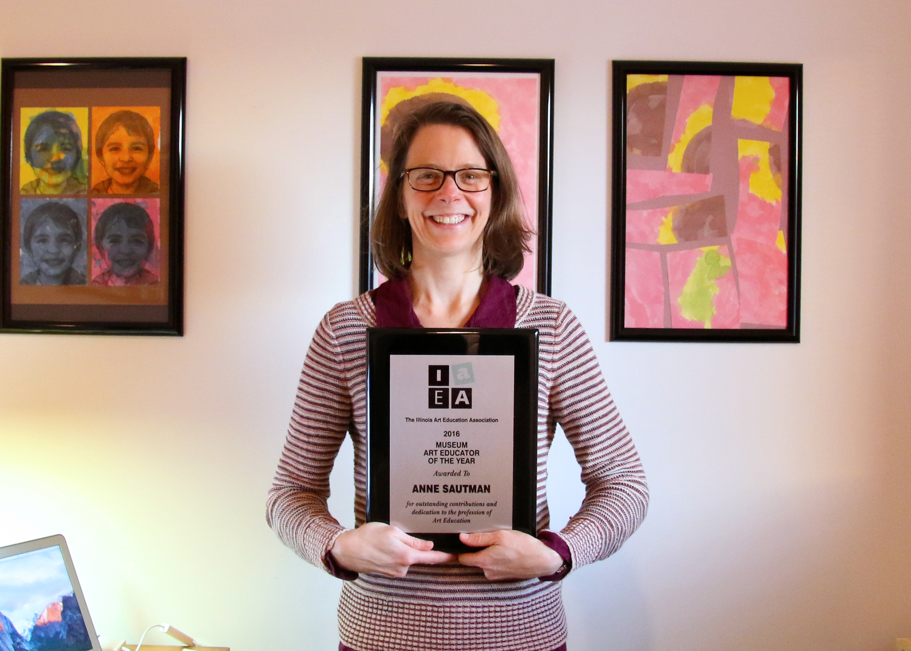 Krannert Art Museum Education Director Anne Sautman, 2016 IAEA Art Educator of the Year (Photo by Julia Nucci Kelly)