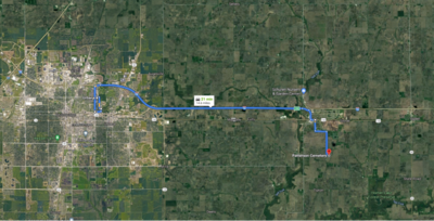 Funeral route map