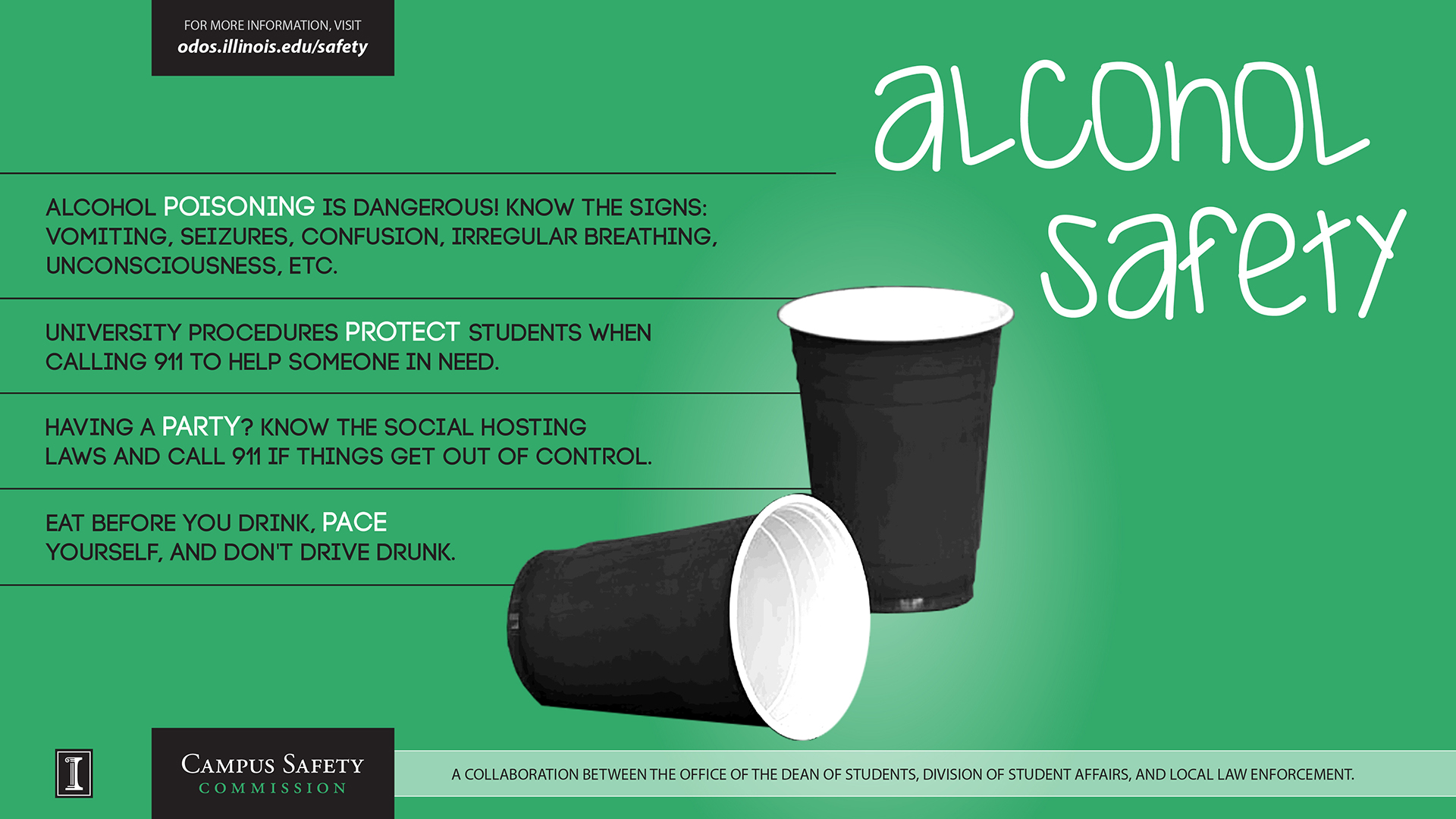 Medical Alcohol Safety Reminds Illinois Uipd Students Amnesty Of