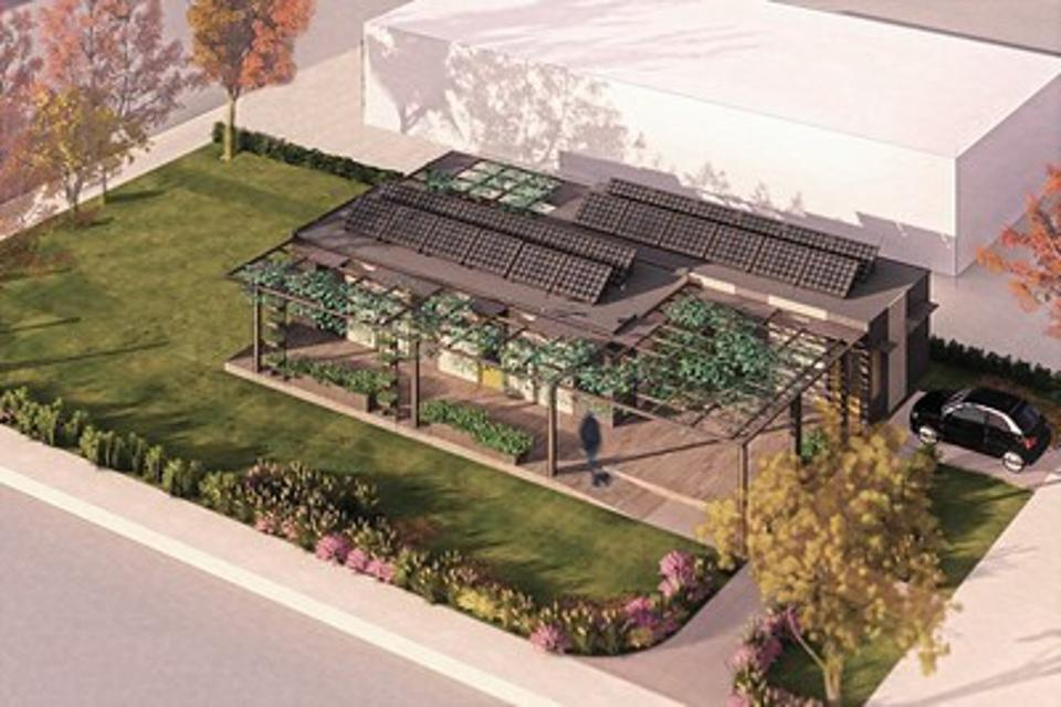 The ADAPTHAUS designed and build by the students at the University of Illinois for the 2020 Solar Decathlon GRAPHIC COURTESY OF THE ADAPTHAUS AT THE UNIVERSITY OF ILLINOIS
